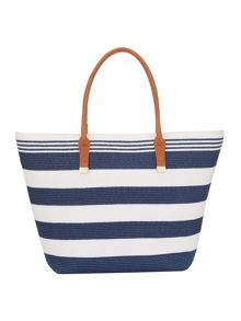 Phase Eight Stripe Straw Bag