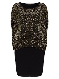 Jane Sequin Double Layer Dress