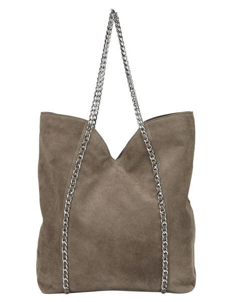 Phase Eight Chain Suede Tote