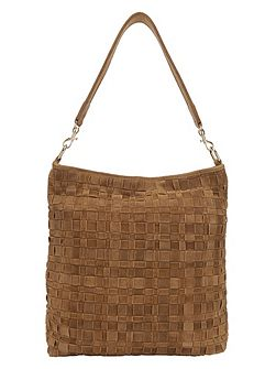 Weave Suede Tote