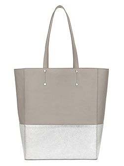 Lucy Metallic Leather Tote