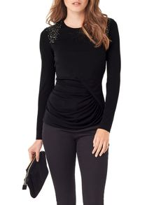 Phase Eight Ebony Embellished Top