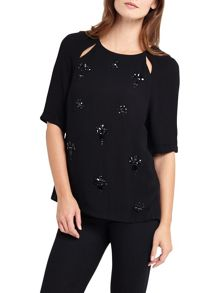 Phase Eight Amalia Embellished Shell Top