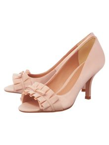 Phase Eight Fiona Satin Peep Toe Shoe