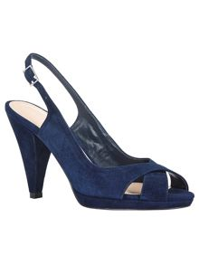 Phase Eight Ruby Suede Peep Toe Shoes
