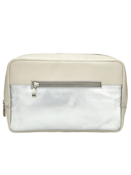 Phase Eight Leather Wash Bag
