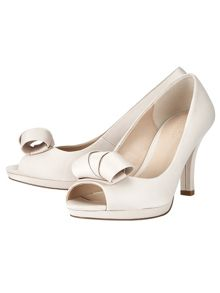 Phase Eight Abi Satin Peep Toe Shoes