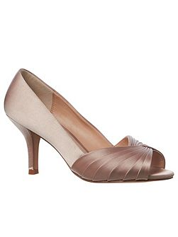 Sammy Satin Peep Toe Shoe