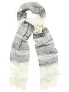 Phase Eight Stripe Cotton Scarf
