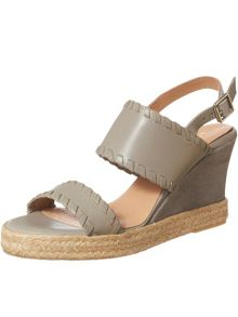Phase Eight Whipstitch Leather Wedges