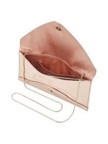Phase Eight Metallic Leather Envelope Clutch
