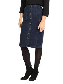 Phase Eight Marilena Button Through Denim Skirt