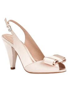 Phase Eight Belle Satin Peep Toe Shoes