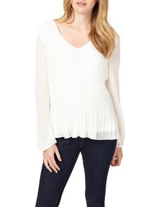 Phase Eight Ella Pleated Long Sleeve Blouse