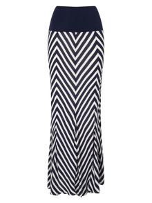 Phase Eight Chevron Stripe Maxi Skirt