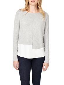 Phase Eight Lorenza Woven Hem Knitted Jumper