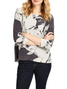 Phase Eight Piera Print Knitted Top