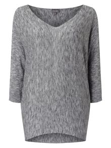 Phase Eight Becca Space Dye V Neck Knitted Jumper