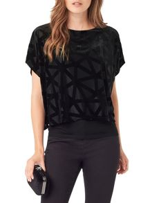 Phase Eight Viv Velvet Burnout Top