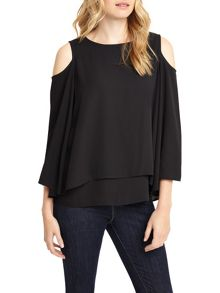 Phase Eight Dania Cold Shoulder Blouse