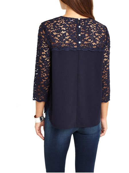 Phase Eight Lowri Long Sleeve Lace Blouse