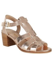 Phase Eight Metallic Leather Sandal