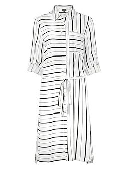 Naia Stripe Shirt Dress