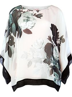Anabelle Print Silk Blouse