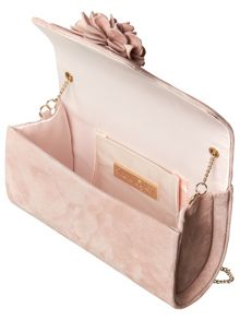 Phase Eight Petal Suede Clutch