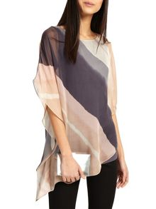 Phase Eight Harper Print Asymmetric Blouse