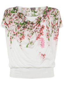 Phase Eight Hydrangea Print Top