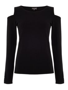Phase Eight Carly Cold Shoulder Knitted Top