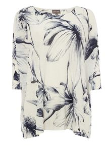 Phase Eight Etched Daisy Print Knitted Top