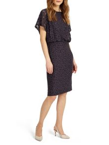 Phase Eight Sandra Spot Burnout Dress