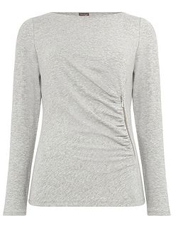 Zoe Zip Side Top