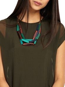 Phase Eight Multi Row Wooden Necklace