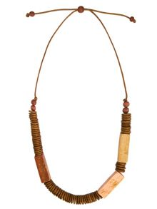 Phase Eight Fay Wooden Necklace