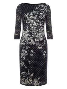 Phase Eight Agatha Lace Print Dress