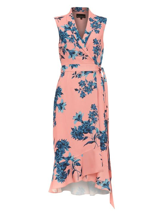 Whistles Palmyra print wrap dress