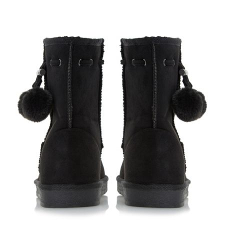 Head Over Heels Rozz cleated fur lined calf boots