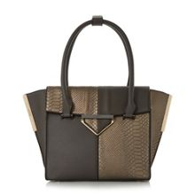 Dune Deslay colour block winged shopper bag