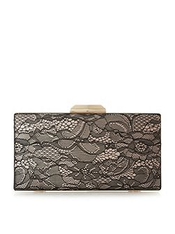 Binka hardcase lace clutch bag