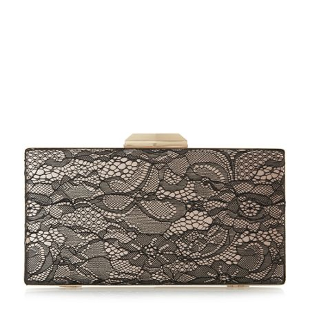 Dune Binka hardcase lace clutch bag