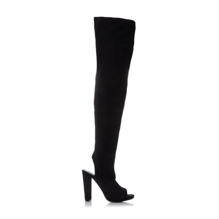 Steve Madden Yimmie stretch peeptoe boots
