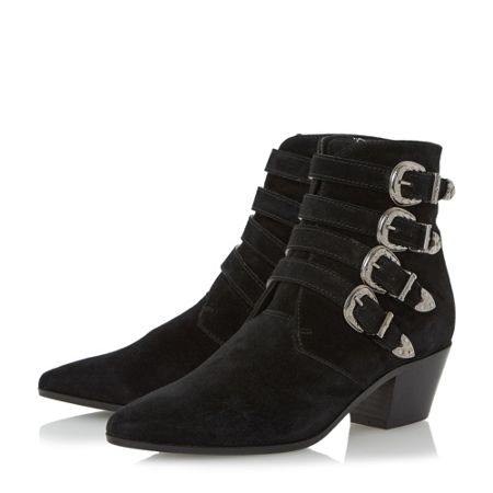 Dune Black Ormond multi western style ankle boots