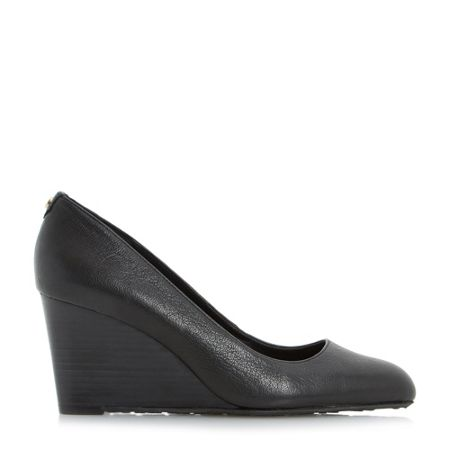 Dune Anisa stacked wedge court shoes