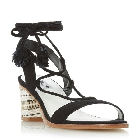 Dune Jolly pom pom heeled sandals