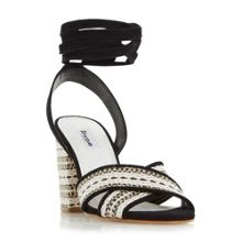 Dune Janie aztec wrap around sandals