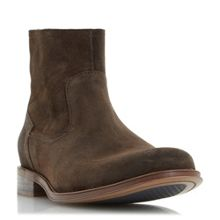 Dune Cambridge waxed suede zip boots