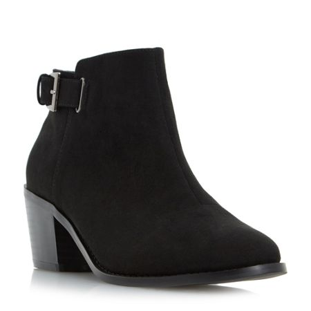 Head Over Heels Priyanka buckle block heel ankle boots